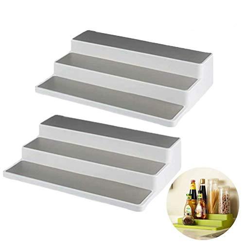 Coogel 2 Pack 3-Tier Non-Skid Cabinet Shelf Organizer Spice Pantry Cabinet Organizer Rack 14.6