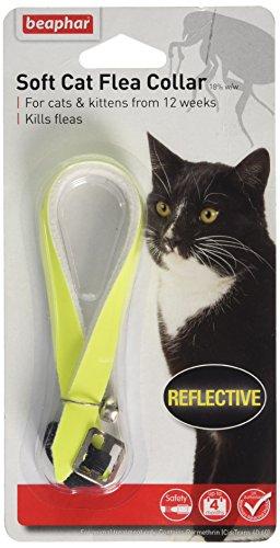 Beaphar, collare antipulci diamante per gatti, nero o rosso