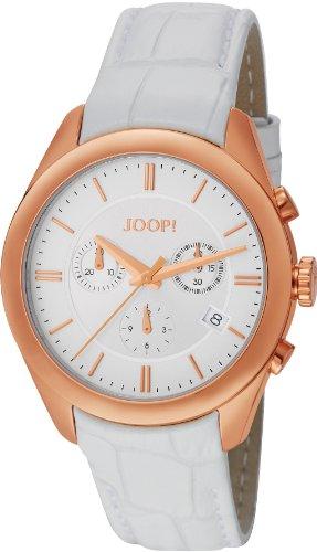 Joop! - JP101042F03 - Montre Femme - Quartz - Chronographe - Chronomètre - Bracelet cuir Blanc