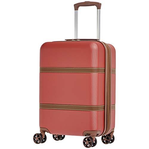 AmazonBasics - Trolley rigido Vienna, 55 cm, Rosso