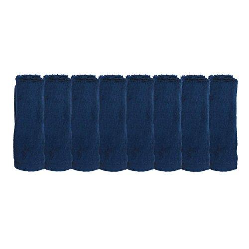 bamboomn Marke-Super Weich 25,4x 25,4cm Bio Baby Waschlappen, Feuchttücher, 100% Rayon aus natürlichem Bambus, saugfähig und langlebig-14verschiedenen Farbe Optionen, königsblau, 25 x 25 cm -