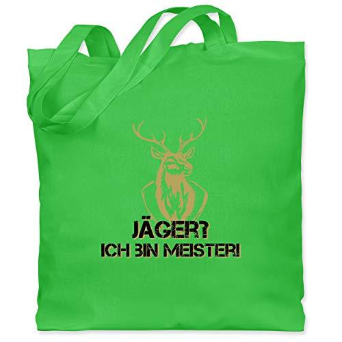 Kostüm Hirsche Jager - Après Ski - Jäger? Ich bin Meister! - Unisize - Hellgrün - WM101 - Stoffbeutel aus Baumwolle Jutebeutel lange Henkel