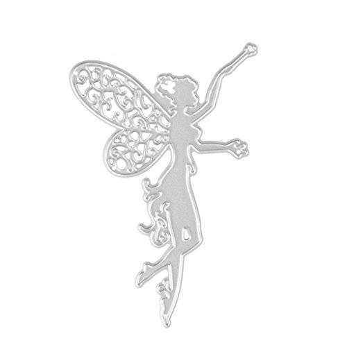 Ruda Stanzschablone Blume Fee Mädchen Metall Scrapbooking Prägung Craft Karte