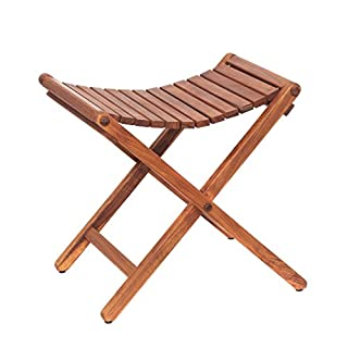 AsinoX Tek. 601 Folding Stool, Wood, brown, 46 x 41 x 46 cm