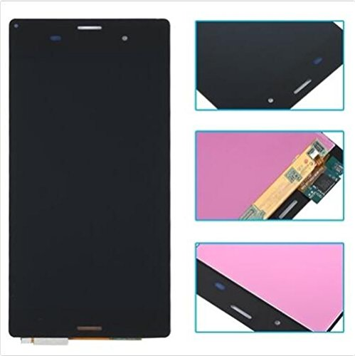 Sony Xperia Z3 Display im Komplettset LCD Ersatz Für Touchscreen Glas Reparatur (Sony Xperia Z3 D6603 D6643 D6653, Schwarz) -