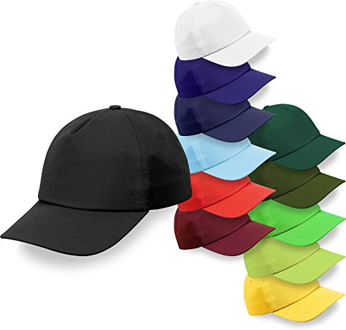 Baseball-Cap mit Klettverschluss in vielen verschiedenen Farben [OneSize] Farbe Navy (Kappen Blaue)