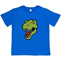 Paw Prints Kids' Dinosaur T-Shirt | Blue Or Pink | Organic Cotton | by