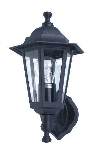 Ranex Classico - Aplique de aluminio y cristal, color negro