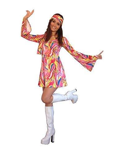 Bodysocks® Womens Blume Hippie Kleid Kostüm (Hippie Kostüm Männlich)