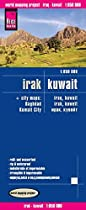 Map of Iraq and Kuwait - By Reise Know-How Verlag
