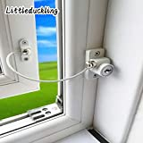 Kids Window Restrictor Lock Child Baby Safety Door Cable Locks Security Wire Catch