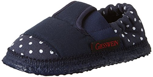 Giesswein Amsdorf, Chaussons courts, non doublées fille Bleu (548 / Dk.blau)
