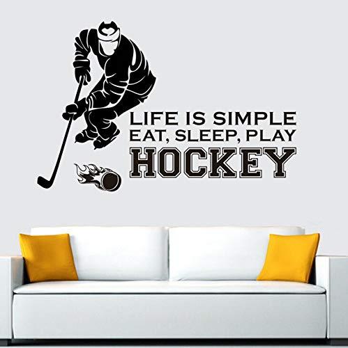 Hockey etikette vinyl wandtattoo wohnkultur kinderzimmer dekoration kinder wandkunst 58 * 65 cm