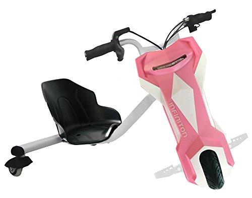 Crazy Bike Triciclo Eléctrico Blanco-Rosa