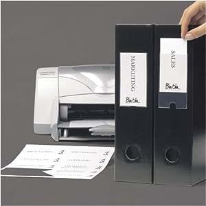 3L Sachet de 24 porte-étiquettes adhésifs imprimables 55x102 mm