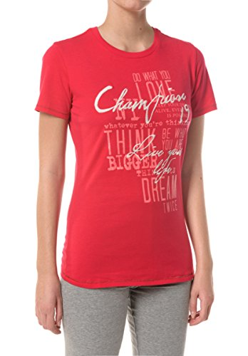Champion Donna,  T-Shirt Auth. SP Cott. Jerse, rosso,   S,   109001_F16