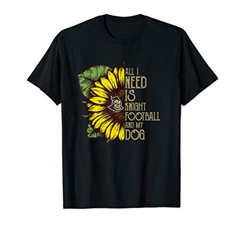UCF Knights Half Sunflower - Football - Dogs T-Shirt