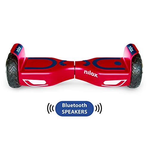 Nilox Doc 2 Hoverboard Plus, Unisex Adulto, Rosso/Blu, Taglia Unica