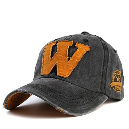 ot Cotton Stickerei Buchstabe W Baseball Cap Snapback Caps ausgestattet Knochen Casquette Hut für Männer benutzerdefinierte Hüte,d2 ()