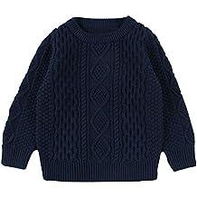 ZODOF Suéter de Color sólido para niños Niños Baby Girl Boy Jersey de Punto  Cardigan de c731620a8d13