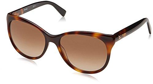 Max mara mm cosy ha 086, occhiali da sole donna, marrone (dark havana/bw black brown), 56