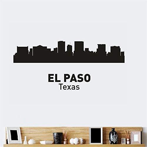 wandaufkleber 3d Wandtattoo Kinderzimmer El Paso City Decal Landmark Skyline Sketch Decals Poster Parede Home Decor Sticker for living room