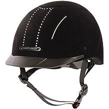 Casco de equitación para Seguridad – Casco de equitación Eclipse con cristales ajustable Interior Lavable,
