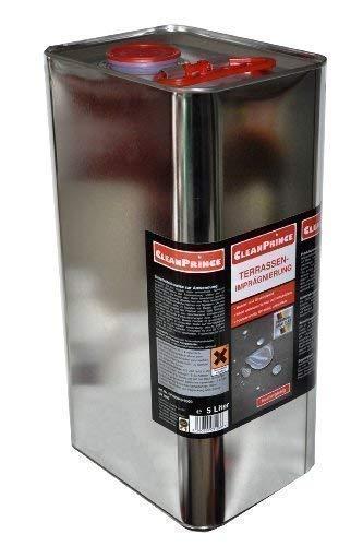 CleanPrince Terrassen-Imprägnierung 5 Liter 5000 ml wasserabweisend ölabweisend -
