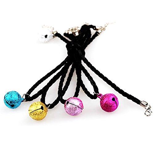 Nikgic 30CM zufällige Farbe Kleine Haustier Glocke Haustier Kragen Hochwertige Geflochtenen Seil Kragen Mode Haustier Kragen (Glocke Kragen)