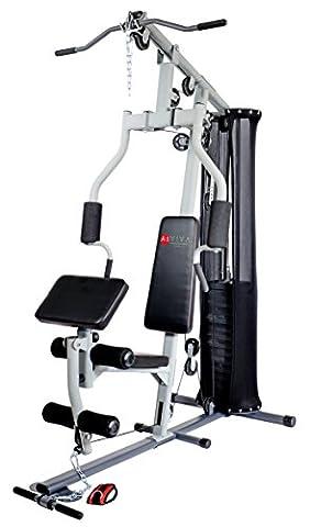 AsVIVA MG4 Multi-Gym Power Kraftstation inkl. Gewichtsblöcke - der Krafttrainer mit Hantelbank, Butterfly und Beincurl Funktion - Fitness-Station