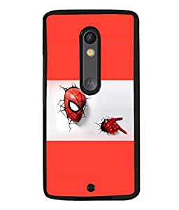 printtech Superhero cool Back Case Cover for Moto X Pure Edition