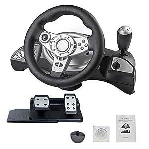 gaeruite Driving Force Racing Rad und Pedale, Unterstützung für PS3 / PS2 / PC D-Input/X-Input-PC-Computer, Lenkradsimulation für den Rennsport