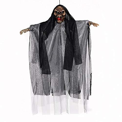 Elektrische Becken Sound Control Hang Ghost Requisiten Terrorist Spielzeug für Halloween Trick. (Schwarz) 1 STÜCK (Elektrische Halloween Requisiten)