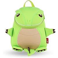 BINGONE Pequeño bolso del dinosaurio de los niños Bolsa de hombro para niños pequeños mochila impermeable verde mejor regalo