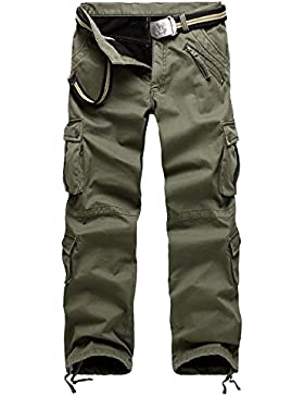 [Patrocinado]AYG Invierno Pantalón Militar Hombre Pantalones Cargo Pants Espesor Trousers 29-40