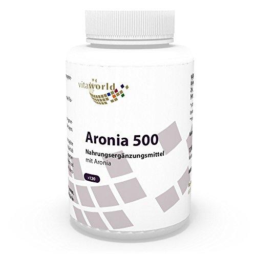 Wichtiges Antioxidans (Vita World Aronia 500mg 120 Kapseln Apotheken Herstellung)