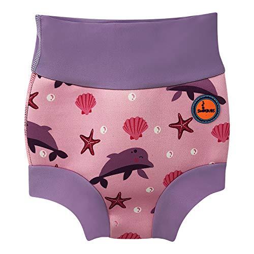 Baby Schwimmen Windel Kinder Wiederverwendbare Schwimmen Windel Mädchen Kostüm Jungen Schwimmen Shorts (0-3 Monate, Rosa Delphin)