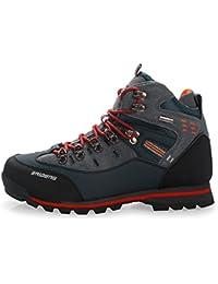 ... Scarpe da escursionismo   Arancione. SANANG Pelle esterna impermeabile  Hiking Boots autunno Uomini Sport invernali Trekking alpinismo Stivali d95280463e8