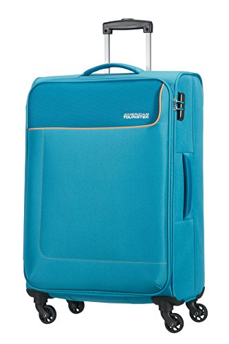American Tourister Funshine 4 Roues 66/24 Valise, 66 cm, 63,5 L, Bleu Ocean