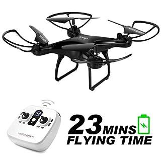 allcaca RC Drohne RC Quadrocopter 23 Minuten Lange Akkulaufzeit mit LED-Leuchten, 3D Flip Kopflos Modus One Key Start Landung DREI Geschwindigkeitsmodus Beste für Anfänger, Schwarz