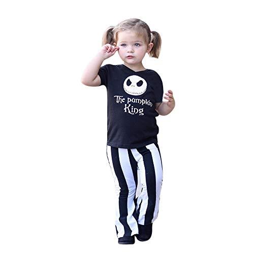Kid Teufel Kostüm - Zilosconcy Halloween Mädchen Kostüm Cartoon Teufel Schädel Brief Drucken Kleidung Set Hosen Tops Jumpsuit Langarm Hemd Shirt Hosen Hohe Qualität 100% Baumwolle