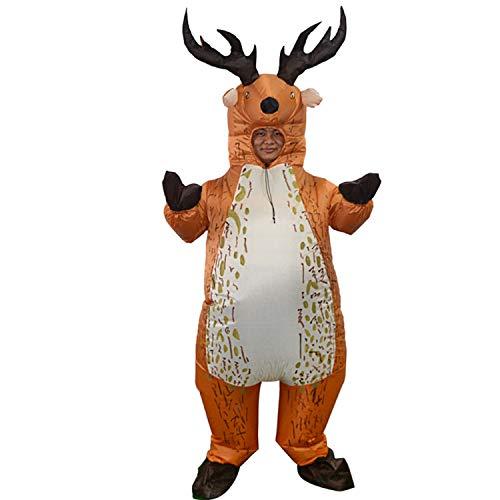 Kind Elch Kostüm - LOVEPET Elch Aufblasbare Kostüm Weihnachten Halloween Party Spielzeug Kostüm Bühnenkostüm Maskerade Requisiten Erwachsenes Kind