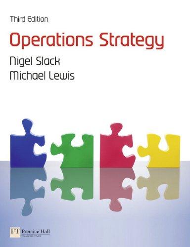 Operations Strategy PDF Books
