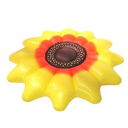 WYFDM Aufblasbare Sich hin- und herbewegende Reihe, riesiges aufblasbares Sun-Blumen-Pool-Floss-Reihen-Fahrt-auf dem Schwimmen-Ring-Wasser-Feiertags-Partei-Spielzeug (Floß Blume)