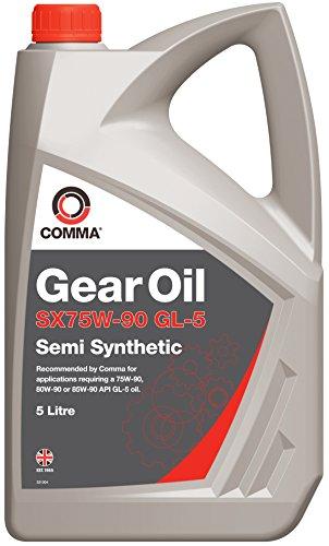 Comma SX5L 5L SX75W-90 GL-5 Semi-Synthetic Gear Oil
