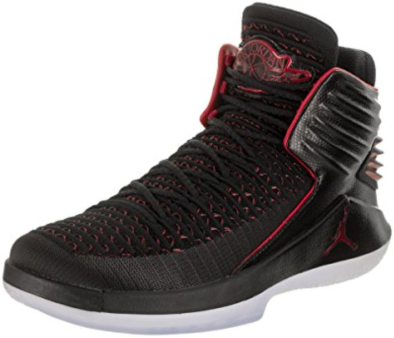 Nike Air Jordan XXXII Negro Textil/sintéticos Zapatillas, Schwarz (Black/University Red)  -
