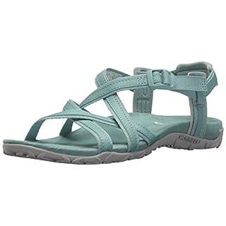 Merrell Women's Terran Ari Lattice Ankle Strap Sandals, Green Aquifer, 7 (40 EU)