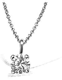 Goldmaid–Pa Chaîne avec pendentif Solitaire Jana Collier Jana Solitaire 0,10ct. 585or blanc diamant 0.10ct blanc taille brillant 45cm–So c6732wg