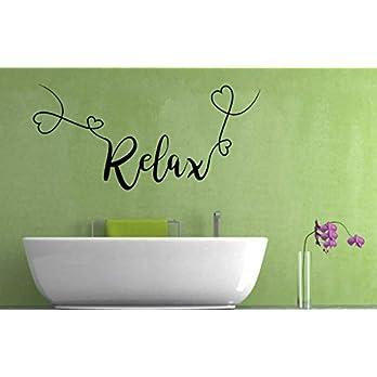 Relax Zitat, Vinyl Wandkunst Aufkleber, Wandbild, Aufkleber. Zuhause, Wanddekor. Schlafzimmer, Wohnzimmer