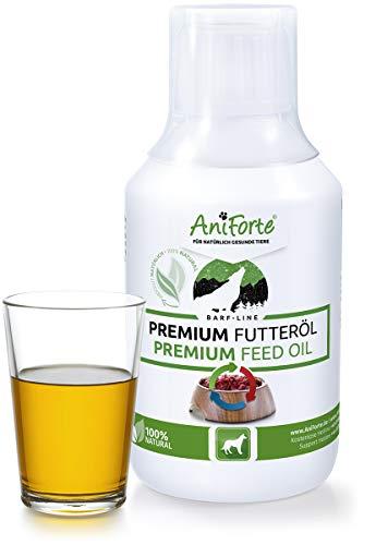 AniForte Barf Futteröl 250ml - Naturprodukt für Hunde, Kaltgepresst, Premium Öl, Barfen und Idealer Zusatz für Futter, Hochwertiges Basisöl, Natürlich, Artgerecht und Ausgewogen